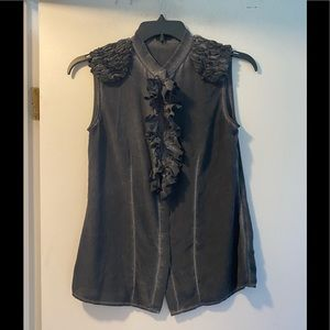 Liebeskind silk blouse with ruffles size 36 small